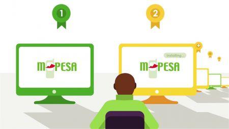 Depósito e retirada usando M-Pesa no Exness